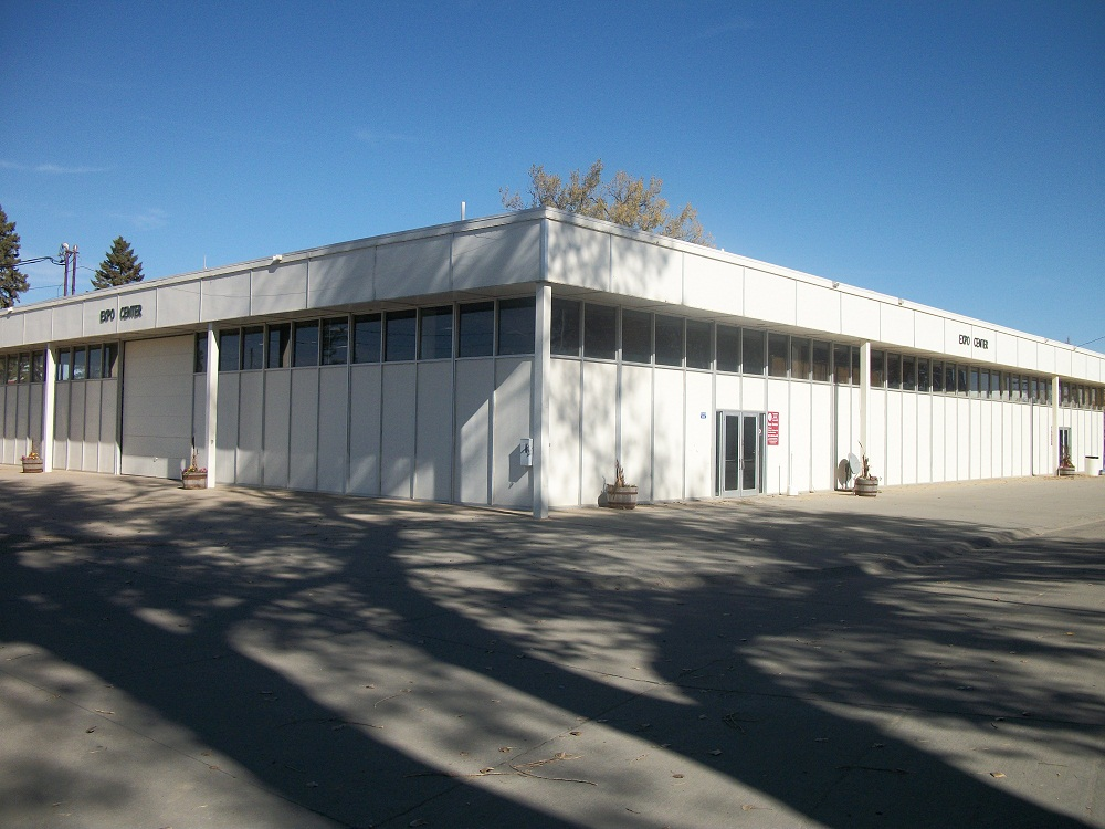 Exterior photo of the Expo Building.