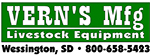 Vern's Manufaturing Livestock Equipment of Wessington, SD Logo